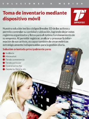 Toma de inventario mediante dispositivo móvil